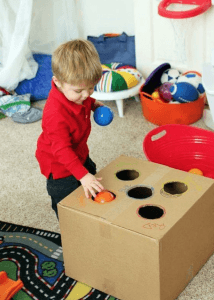 Create a hand-eye coordination play area for learning-made-fun