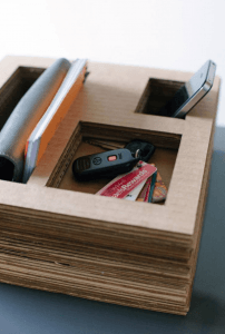 Layer your cardboard leftovers for this storage system