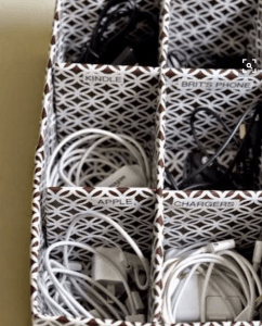 Forget tangled cords with this charger organizer