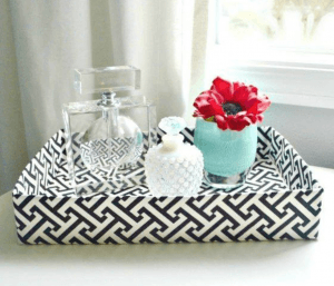 Create an attractive tray that can be used anywhere around your house